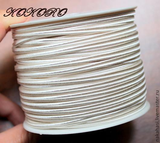 Для украшений ручной работы. Ярмарка Мастеров - ручная работа. Купить Сутаж-шнур. Молочный цвет (10-20-30-50 метров). Арт. 024026. Handmade.