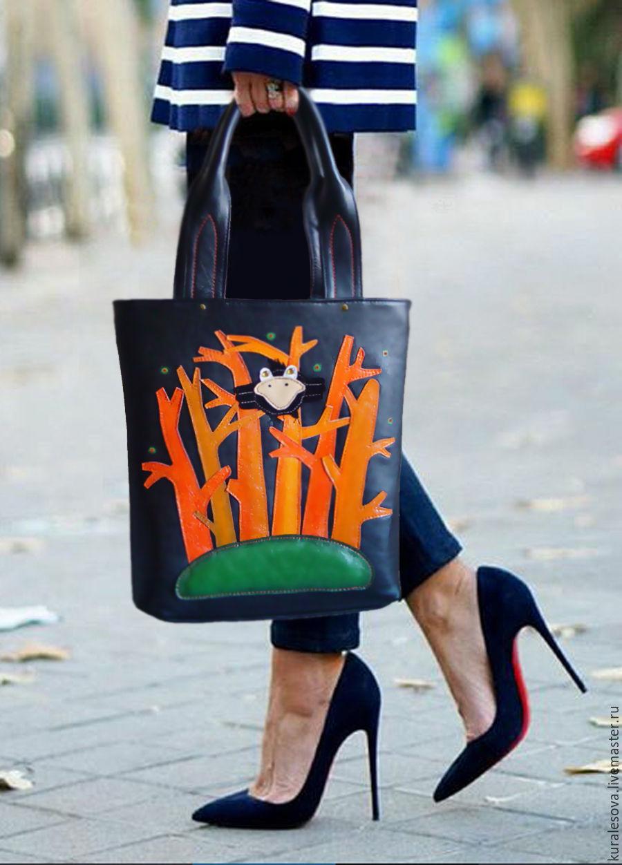 """Кожаная сумка """" Оранжевое лето"""", Сумки, Белгород, Фото №1"""