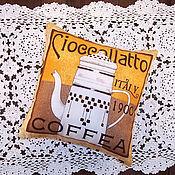 Для дома и интерьера ручной работы. Ярмарка Мастеров - ручная работа Кофейные подушечки. Handmade.