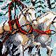Животные ручной работы. Тройка белых лошадей 36,5 х 46,5. Картины из бисера (biserrussia). Ярмарка Мастеров.