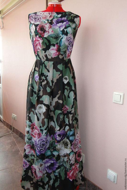 Платья ручной работы. Ярмарка Мастеров - ручная работа. Купить Платье Blumarine в пол. Handmade. Комбинированный, платье, батист 100%