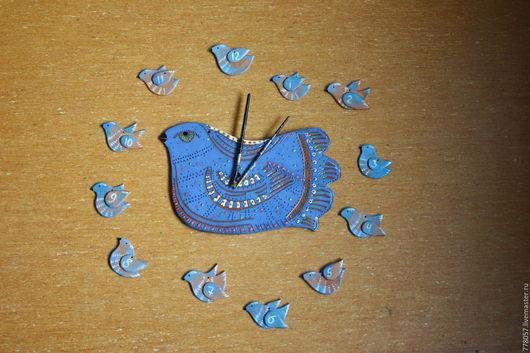 """Часы для дома ручной работы. Ярмарка Мастеров - ручная работа. Купить Часы """"Время летит"""". Handmade. Голубой, часы, время"""