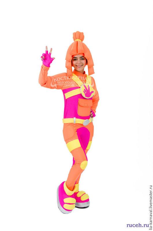 Карнавальные костюмы ручной работы. Ярмарка Мастеров - ручная работа. Купить Костюм Симки. Handmade. Оранжевый, праздничный костюм, бифлекс