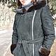 Верхняя одежда ручной работы. Ярмарка Мастеров - ручная работа. Купить Куртка замшевая черная с ассиметричной молнией,норкой и капюшоном. Handmade.