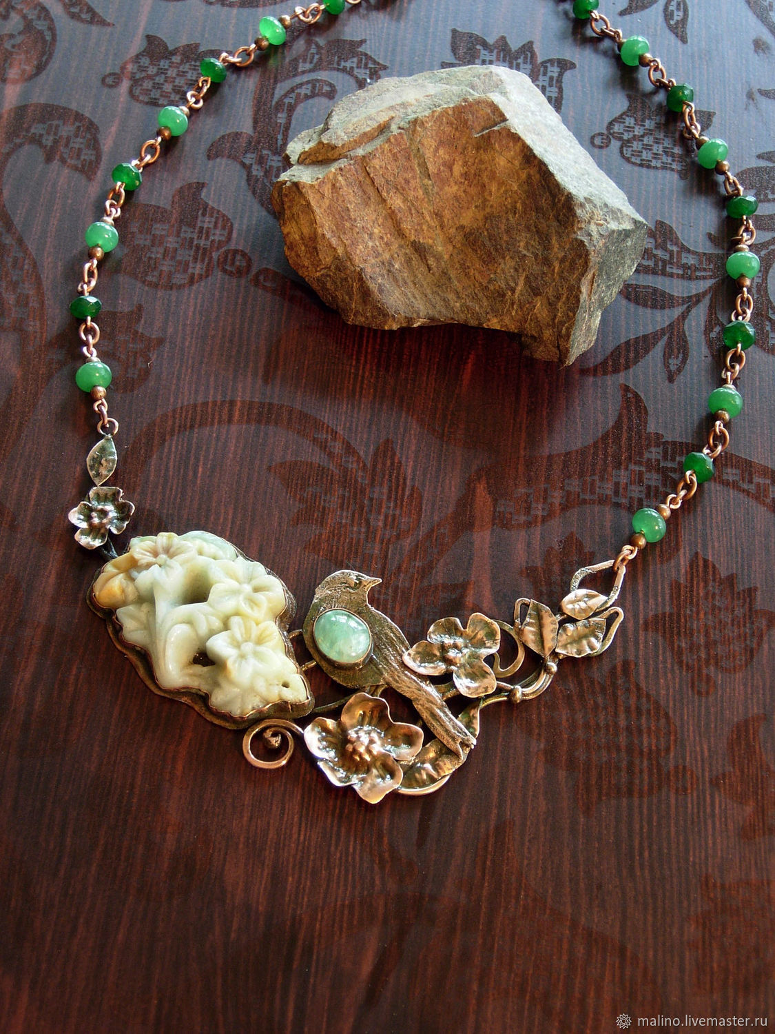 Necklace with jadeite in Moscow, Necklace, Ekaterinburg,  Фото №1