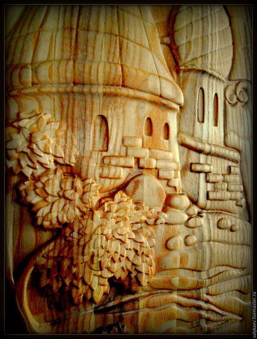 Город ручной работы. Ярмарка Мастеров - ручная работа. Купить Град.. Handmade. Коричневый, русская традиция, интерьер кухни, панно