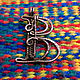 Copper wire wrapped pendant  letter B. Pendants. IVA rainbow art. My Livemaster. Фото №5
