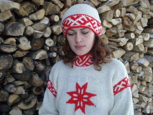 Этническая одежда ручной работы. Ярмарка Мастеров - ручная работа. Купить Славянская бандана-платок. Handmade. Вязанный платок, обереги