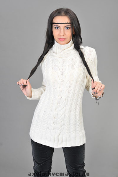 """Кофты и свитера ручной работы. Ярмарка Мастеров - ручная работа. Купить Свитер """"Метель"""". Handmade. Вязаный свитер, белый"""