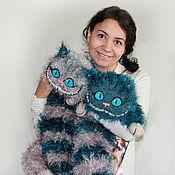 Куклы и игрушки ручной работы. Ярмарка Мастеров - ручная работа Чеширский кот (серый-петроль). Handmade.