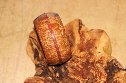 """Браслеты ручной работы. Ярмарка Мастеров - ручная работа. Купить Браслет из дерева """"Сиреневая линия"""". Handmade. Комбинированный, сиреневый"""