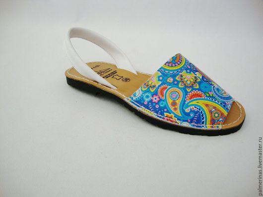 Обувь ручной работы. Ярмарка Мастеров - ручная работа. Купить Сандалии  кожаные женские 37,38,. Handmade. Разноцветный
