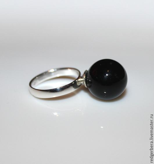 """Кольца ручной работы. Ярмарка Мастеров - ручная работа. Купить Кольцо """"Пелагея"""" серебро с натуральным черным агатом. Handmade."""