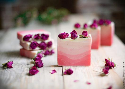 """Мыло ручной работы. Ярмарка Мастеров - ручная работа. Купить Мыло с нуля """"Во имя розы"""". Handmade. Розовый, розы"""