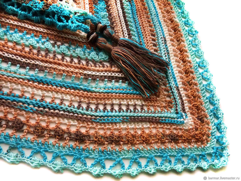 The Bacchus shawl crocheted 'Sea breeze', Shawls1, Moscow,  Фото №1