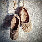 handmade. Livemaster - original item Folk shoes: sandals .. Handmade.