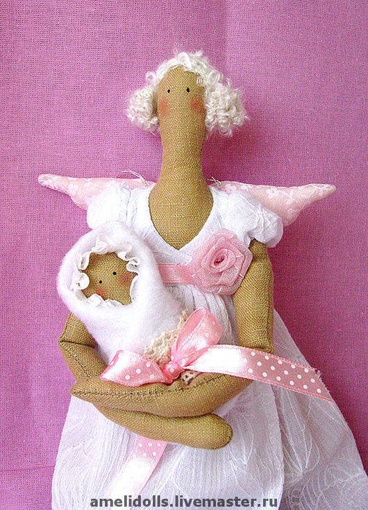 Куклы Тильды ручной работы. Ярмарка Мастеров - ручная работа. Купить Фея с младенцем. Handmade. Мать и дитя, подарок на рождение