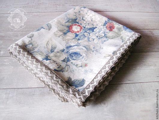 Текстиль, ковры ручной работы. Ярмарка Мастеров - ручная работа. Купить Большая скатерть Синие розы. Handmade. Голубой, для кухни