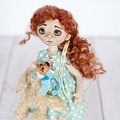 Куклы и игрушки ручной работы. Ярмарка Мастеров - ручная работа Кукла Сонечка и друг Бублик. Handmade.