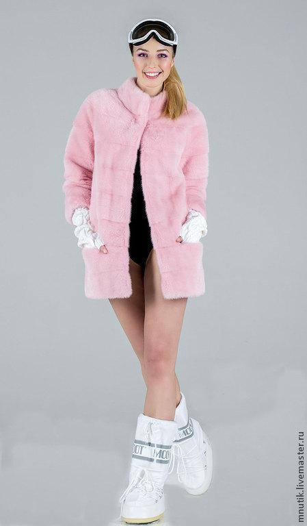 Верхняя одежда ручной работы. Ярмарка Мастеров - ручная работа. Купить Розовая норка. Handmade. Бледно-розовый, мода