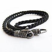 Украшения handmade. Livemaster - original item Chalker: Silver Shoelace Faithful Eagle. Handmade.