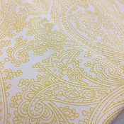 Материалы для творчества handmade. Livemaster - original item 100% cotton, USA, Michael Miller Posh paisley Yellow. Handmade.