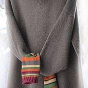 Одежда handmade. Livemaster - original item Oversize sweater with sleeves mittens. Handmade.