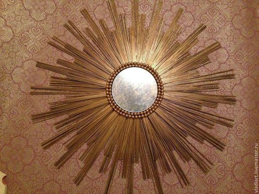 """Зеркала ручной работы. Ярмарка Мастеров - ручная работа. Купить Зеркало солнце """"Версаль"""". Handmade. Золотой, зеркало интерьерное, дерево"""
