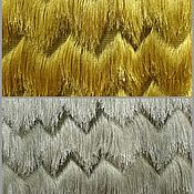 Материалы для творчества handmade. Livemaster - original item Fringe fabric decorative gold and silver. Handmade.