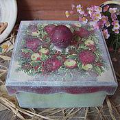 """Для дома и интерьера ручной работы. Ярмарка Мастеров - ручная работа """"Яблочное удовольствие""""  - короб. Handmade."""