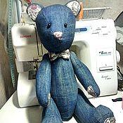 Куклы и игрушки ручной работы. Ярмарка Мастеров - ручная работа Джинсовый мишка. Handmade.