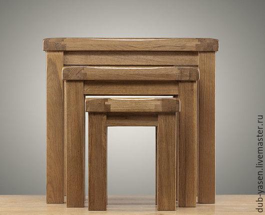 """Мебель ручной работы. Ярмарка Мастеров - ручная работа. Купить Три стола из дуба """"Шале"""". Handmade. Коричневый, мало места"""