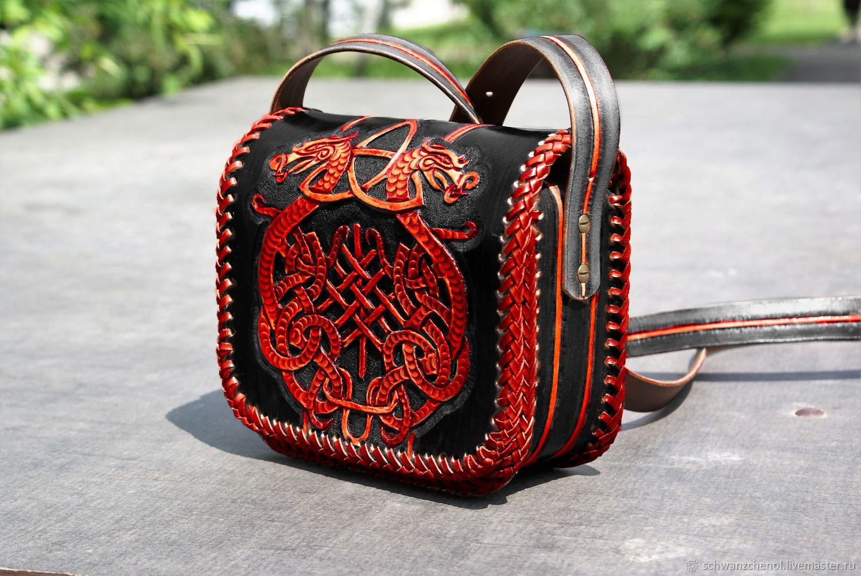 Handmade leather bag - demonic Celtic coat of arms, Classic Bag, Krasnodar,  Фото №1