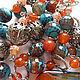 Комплекты украшений ручной работы. Ярмарка Мастеров - ручная работа. Купить Комплект «Карнавал». Handmade. Яркий, натуральные камни, браслет