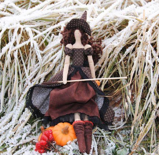 Куклы Тильды ручной работы. Ярмарка Мастеров - ручная работа. Купить Ведьма Хелависа. Handmade. Ведьма, метла, кукла в плаще