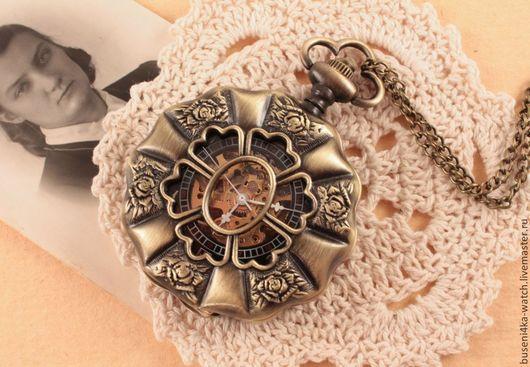 Для украшений ручной работы. Ярмарка Мастеров - ручная работа. Купить Часы-подвеска №38 Винтажный шик, механические. Handmade.
