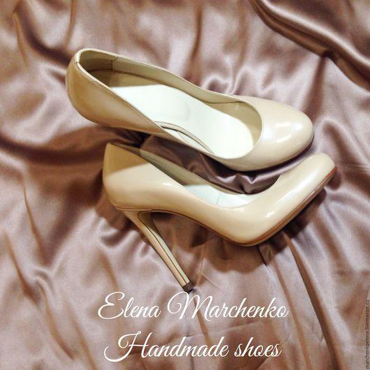 Обувь ручной работы. Ярмарка Мастеров - ручная работа. Купить Туфли. Handmade. Бежевый, туфли ручной работы, лодочки