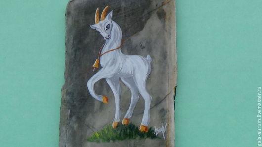 Магниты ручной работы. Ярмарка Мастеров - ручная работа. Купить Козочка Коза Овца Символ 2015 года. Handmade. Белый