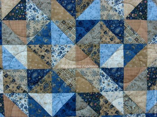 """Текстиль, ковры ручной работы. Ярмарка Мастеров - ручная работа. Купить Большое лоскутное одеяло """" Ноябрь"""". Handmade. Синий"""