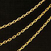 Материалы для творчества handmade. Livemaster - original item Gold-plated chain art. 4-25A, 1.58h1,8. 50.  mm,  cm, South Korea. Handmade.