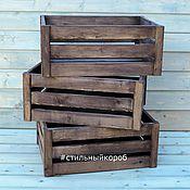 Корзины ручной работы. Ярмарка Мастеров - ручная работа Ящики для цветов, ящик, деревянные ящики, ящик из реек. Handmade.