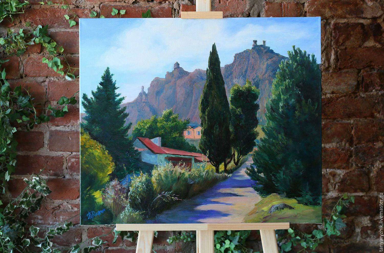 Горный пейзаж: Дорога к Сан-Марино, картина маслом, Картины, Санкт-Петербург,  Фото №1