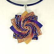 Украшения handmade. Livemaster - original item Pendant from polymer clay Spiral star - Sunset. Handmade.