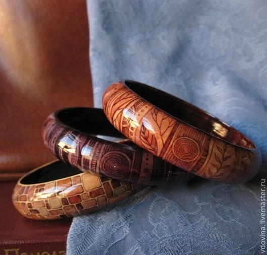 Браслеты ручной работы. Ярмарка Мастеров - ручная работа. Купить браслеты Октябрьские сумерки. Handmade. Бежевый, коричневый цвет, осень