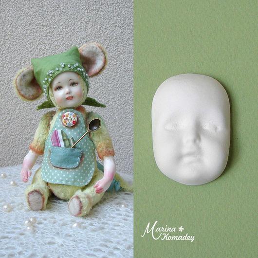 Куклы и игрушки ручной работы. Ярмарка Мастеров - ручная работа. Купить Личико №23. Handmade. Белый, кукольные детальки