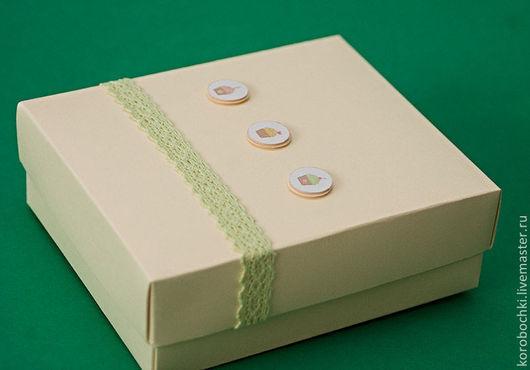 """Подарочная упаковка ручной работы. Ярмарка Мастеров - ручная работа. Купить Коробка """"Чаепитие"""" 15х12х5 см. Handmade. Бежевый"""