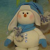 Снеговики ручной работы. Ярмарка Мастеров - ручная работа Снеговик Хрумка. Handmade.