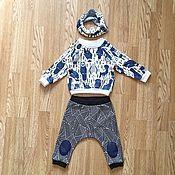 """Работы для детей, ручной работы. Ярмарка Мастеров - ручная работа Комплект детский свитшот + штанишки """"Совы"""". Handmade."""