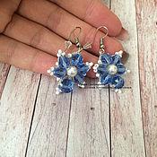 Украшения handmade. Livemaster - original item Lace earrings tatting miniature. Handmade.