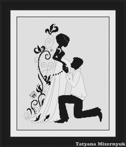 """Вышивка ручной работы. Ярмарка Мастеров - ручная работа. Купить Схема для вышивки крестиком """"Чудо любви"""". Handmade."""